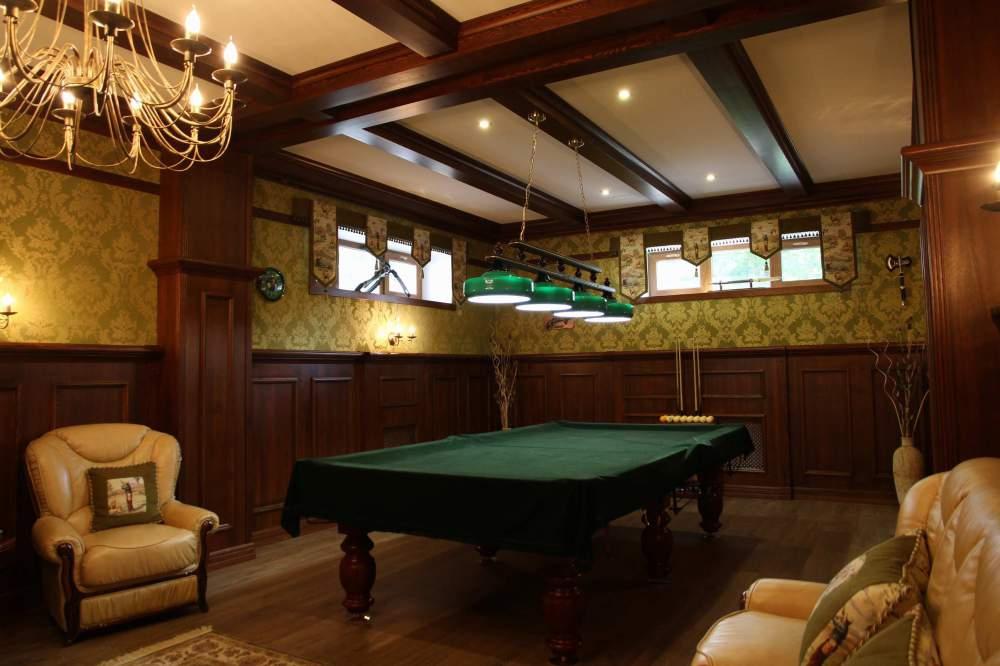 Бильярдная комната в доме фото