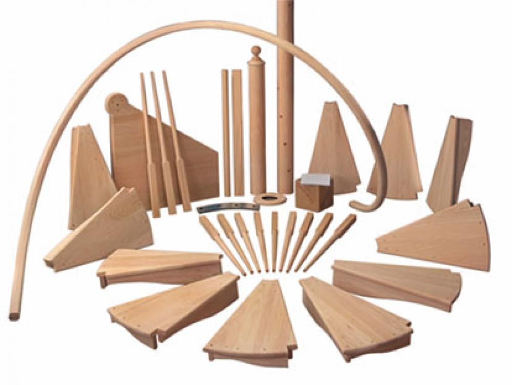 Комплектующие для деревянных лестниц: виды и требования к ни.